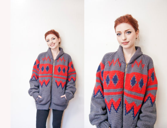 vintage cowician sweater