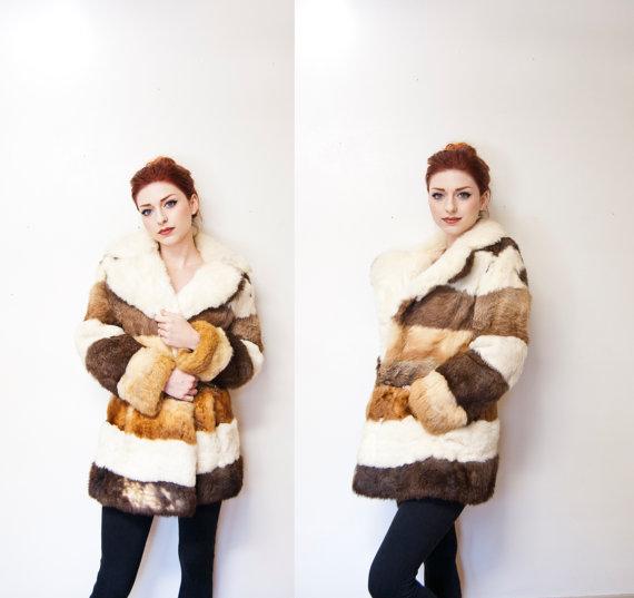 vintage 70s fur coat