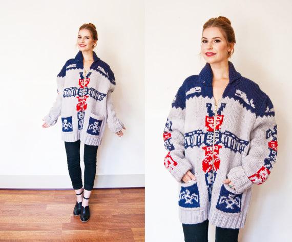 vintage cowician sweater