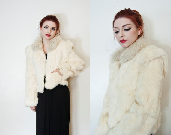 vintage 180s fur coat
