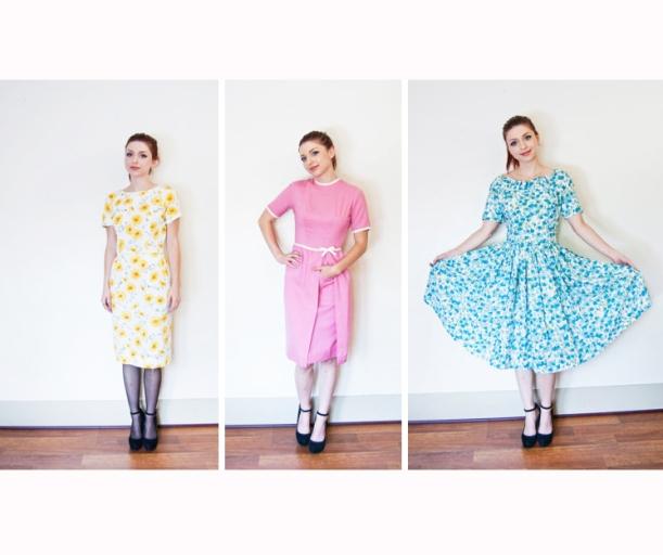 Vintage 1950s day dresses dejavintage