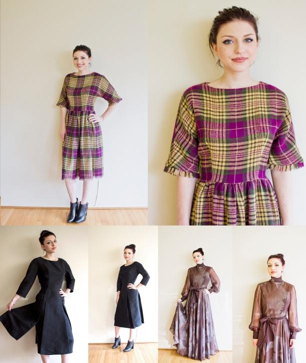 vintage brown chiffon gown copy
